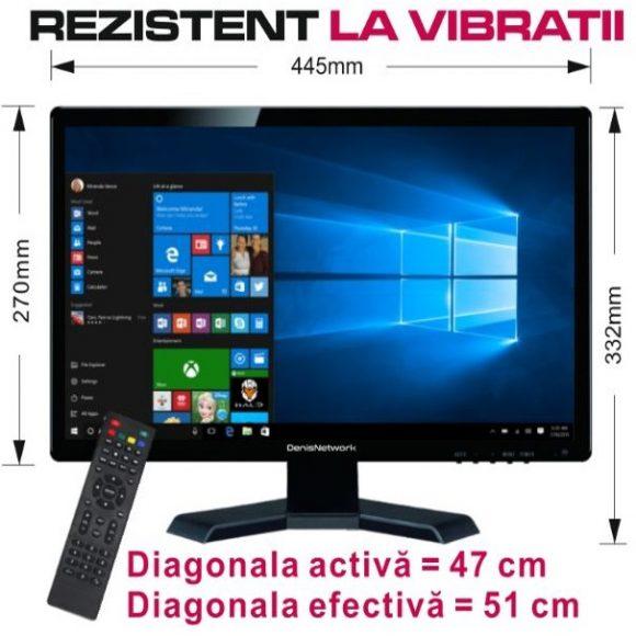 Televizor tv portabil LED HD ∅ 47cm 12v Auto Rulota Camion Tir Camping