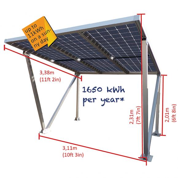Parcare fotovoltaica Carport M, 1.62 kWp