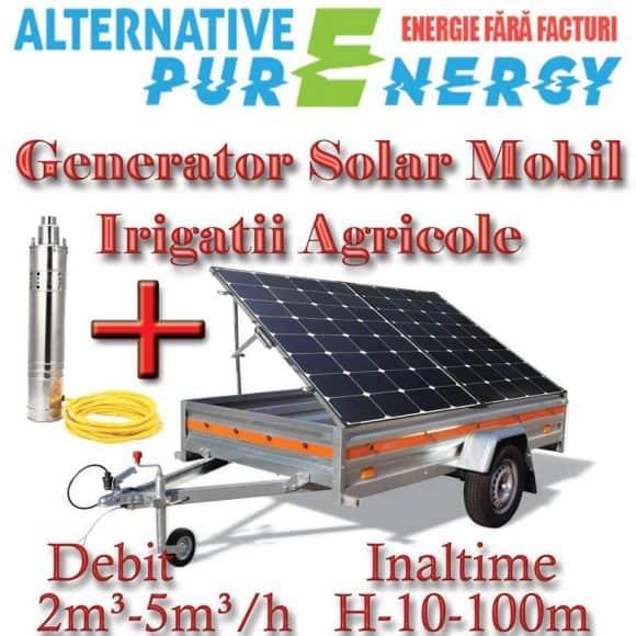 Generator Solar Mobil Remorca Solara Irigatii Agricole APE 3m3/h  H40